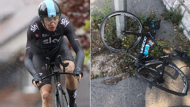 Le cycliste Christopher Froome