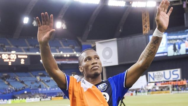 Didier Drogba fait ses adieux au public montrélais
