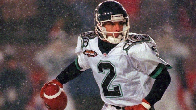 Doug Flutie au match de la Coupe Grey de 1996