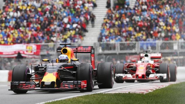 Daniel Ricciardo et Sebastian Vettel au Grand Prix du Canada 2016