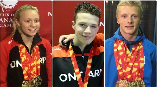 Hanna Henderson de l'Ontario avec 11 médailles, Graysen Bernard aussi de l'Ontario avec 10 médailles et Cole Pratt de l'Alberta, également avec 10 médailles, éclipsent le record du plus grand nombre de médailles lors de même Jeux du Canada