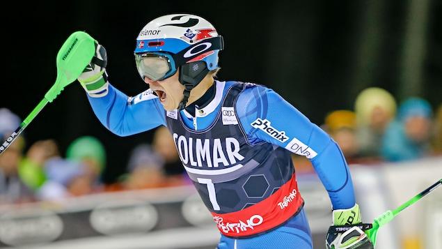 Slalom : Kristoffersen devant Hirscher après la première manche
