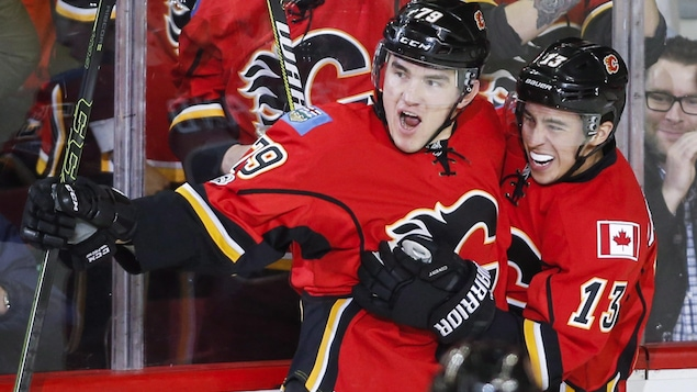 Micheal Ferland et Johnny Gaudreau
