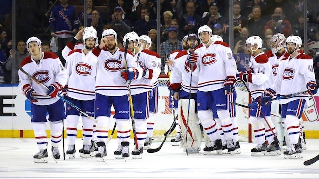 Les joueurs du Canadien après leur élimination