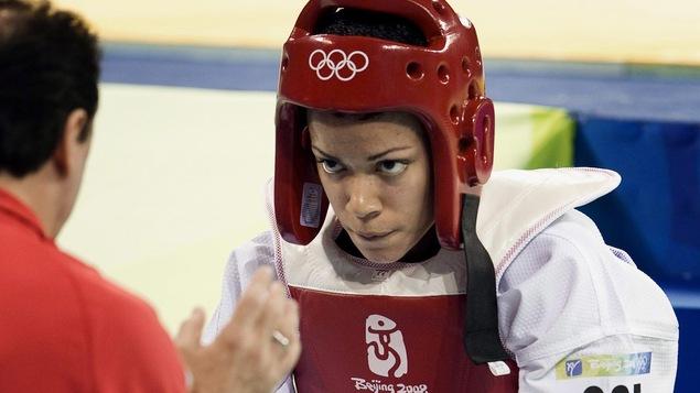 Karine Sergerie aux Jeux de Pékin en 2008