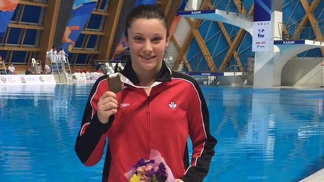 Olivia Chamandy obtient une 2e médaille de bronze aux mondiaux juniors