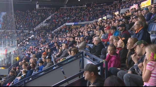 Les estrades du centre Brandt lors d'un match des Pats de Regina.