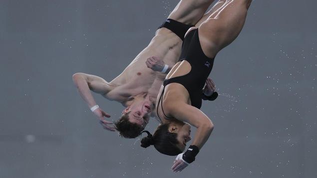 Meaghan Benfeito et Vincent Riendeau