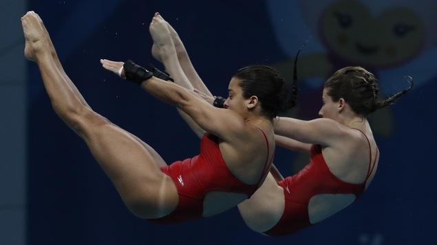 Les Canadiennes Meaghan Benfeito et Caeli McKay ont obtenu leur meilleur pointage de la saison pour terminer au 4e rang du 10 m synchro aux mondiaux de la FINA.