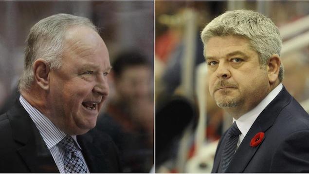 Randy Carlyle des Ducks et Todd McLellan des Oilers