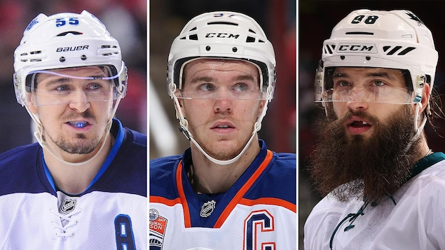 Mark Scheifele, Connor McDavid et Brent Burns