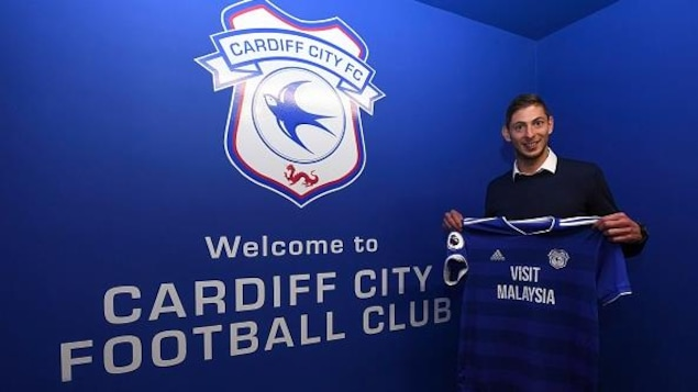 Emiliano Sala au moment de l'annonce de son transfert de Nantes vers Cardiff