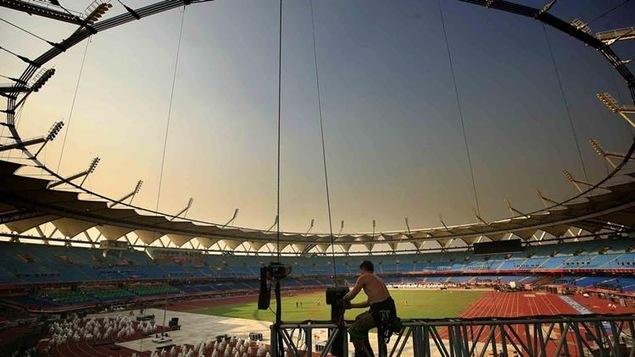 Le stade Jawaharlal Nehru de Dehli rénové pour les Jeux du Commonwealth en 2010