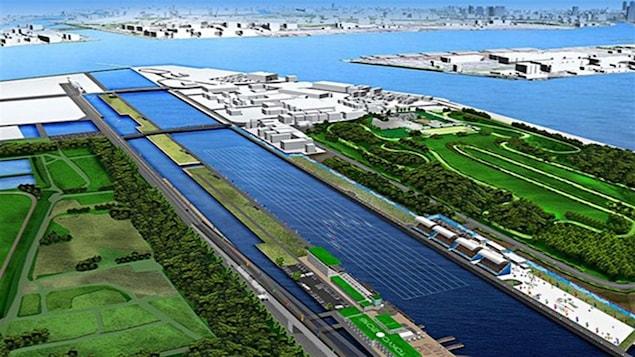 Le complexe Sea Forest pour le canoë-kayak dans la baie de Tokyo