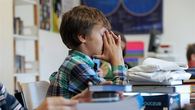 Un élève fatigué