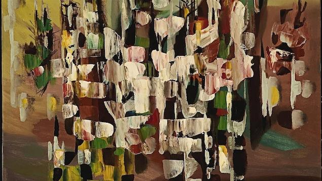 Une toile de Paul-Émile Borduas (détails)