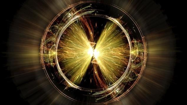 Explosion de particules élémentaires