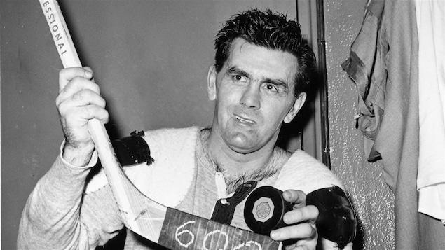 Maurice Richard en 1958, après avoir compté son 600e but en carrière