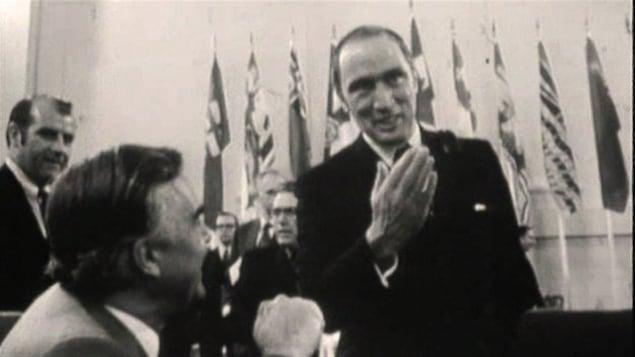 Le premier ministre Pierre Elliott Trudeau en 1969