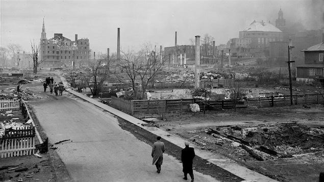 Rimouski après l'incendie
