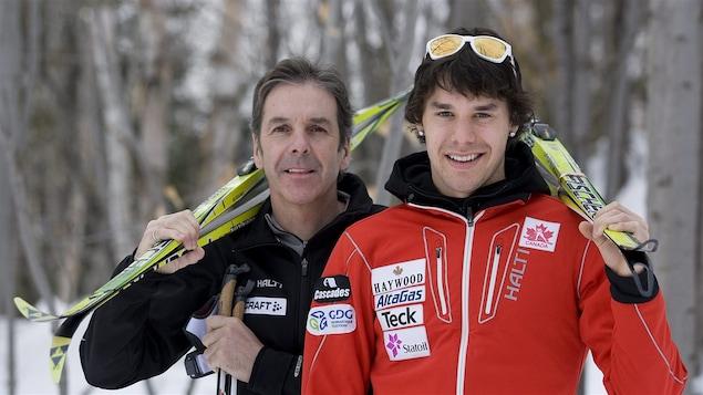 Pierre Harvey et son fils Alex, tous deux athlètes olympiques