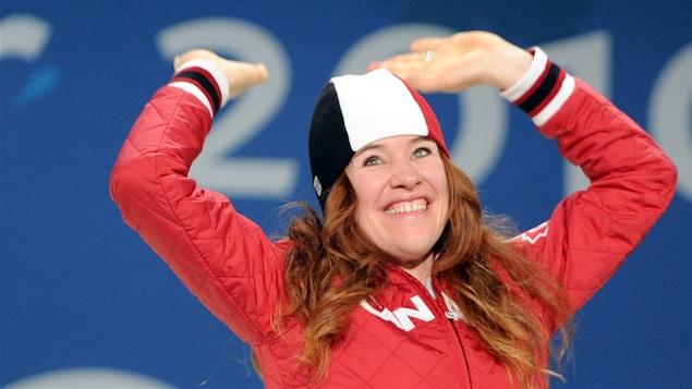 Clara Hughes aux Jeux olympiques de Vancouvers en 2010