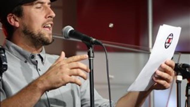 David Goudreault lors du lancement de la saison d'ICI Estrie