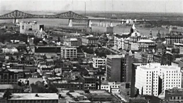Vue de Montréal dans les années 1960