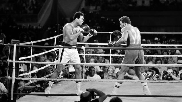 Le combat entre Mohamed Ali et George Foreman