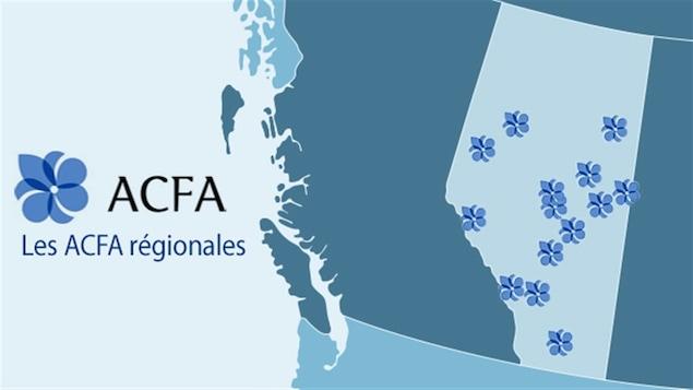 La répartition des ACFA régionales en Alberta