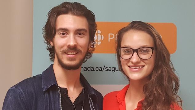 Alexandre Laplante et Frédérique Marcoux étudient en radio au département Art et technologie des médias du Cégep de Jonquière