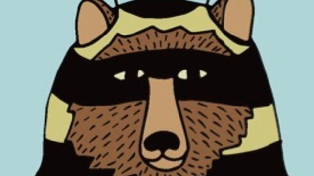Un dessin d'un ours avec une combinaison d'abeille.