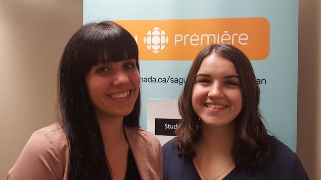 Carolanne Plouffe et Jasmine Grégoire, étudiantes en art et technologie des médias du Cégep de Jonquière