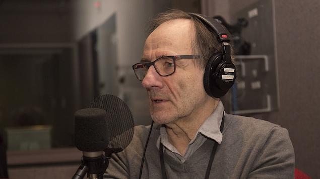 Yvon Rivard au studio 30 de Radio-Canada, à Montréal, le 18 janvier 2018