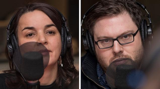 Les sociologues Mathieu Bock-Côté et Cécile Van de Velde