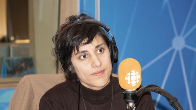 Elkhana Talbi, alias Queen Ka, en studio.