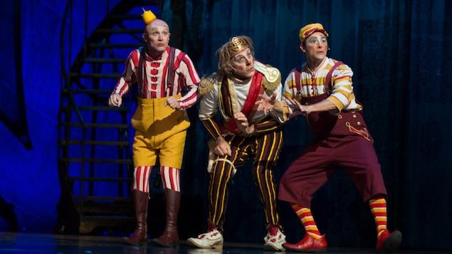 Des clowns du spectacle Kooza du Cirque du Soleil.
