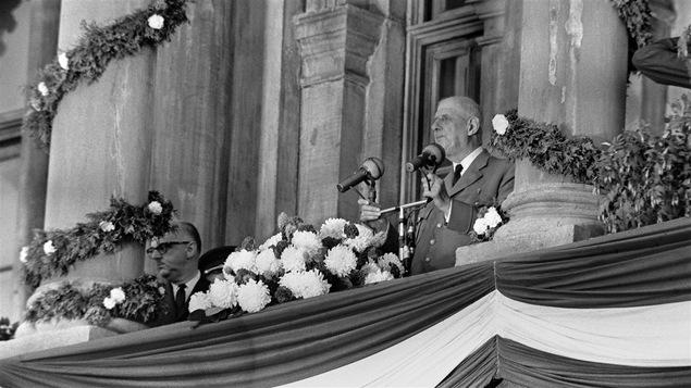 Le général de Gaulle, à Montréal, le 24 juillet 1967