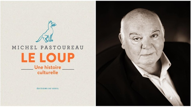 L'auteur Michel Pastoureau et son livre Le loup Photo : Astrid Di Crollanlanza/Gallimard