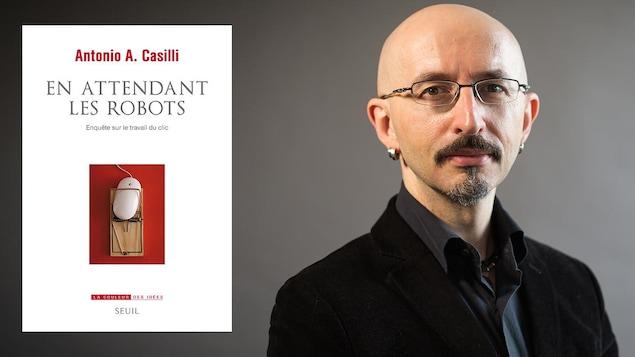 Page couverture du livre « En attendant les robots » d' Antonio A. Casilli (à droite)