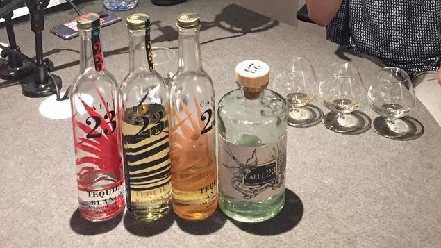 Des bouteilles de tequila Calle 23