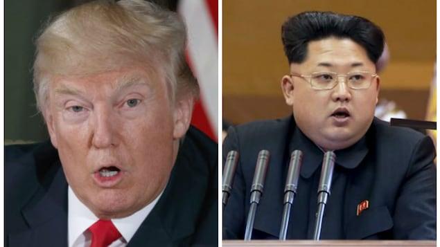 Le président des États-Unis, Donald Trump, et le président nord-coréen Kim Jong-un.