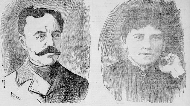 Un dessin de cour de Sam Parslow et Cordélia Viau datant de mars 1899 et publié dans le journal Le Soleil de l'époque.