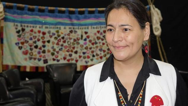 La commissaire de l'Enquête nationale sur les femmes et les filles autochtones disparues et assassinées, Michèle Audette