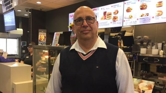 George Nammour dans un de ses restaurants