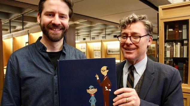 L'historien Mathieu Lapointe et le bibliothécaire Christopher Lyons