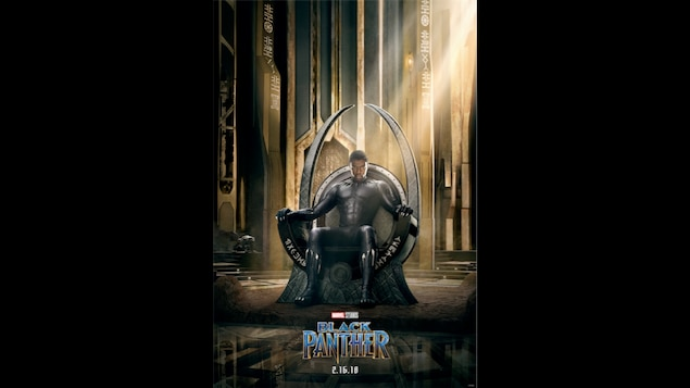 L'affiche officielle du film Black Panther