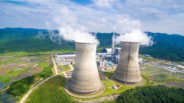 Une usine de charbon