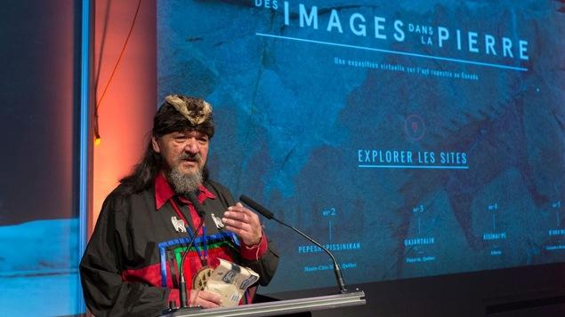 Grégoire Canapé, Innu de Pessamit et collaborateur au projet d'art rupestre