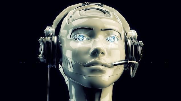 Un robot au téléphone